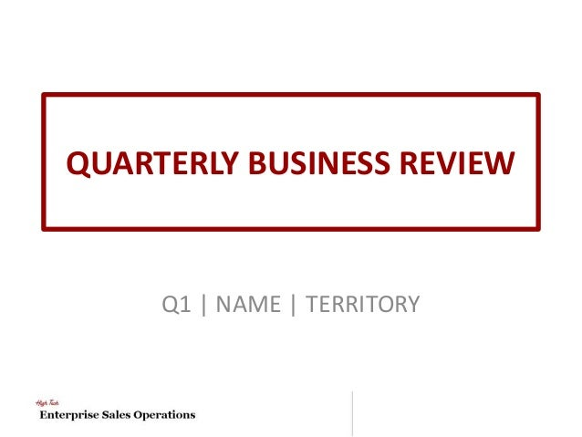 QUARTERLY BUSINESS REVIEW Q1 | NAME | TERRITORY 4 QBR Templates ...