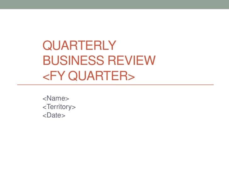 QBR Presentation Template