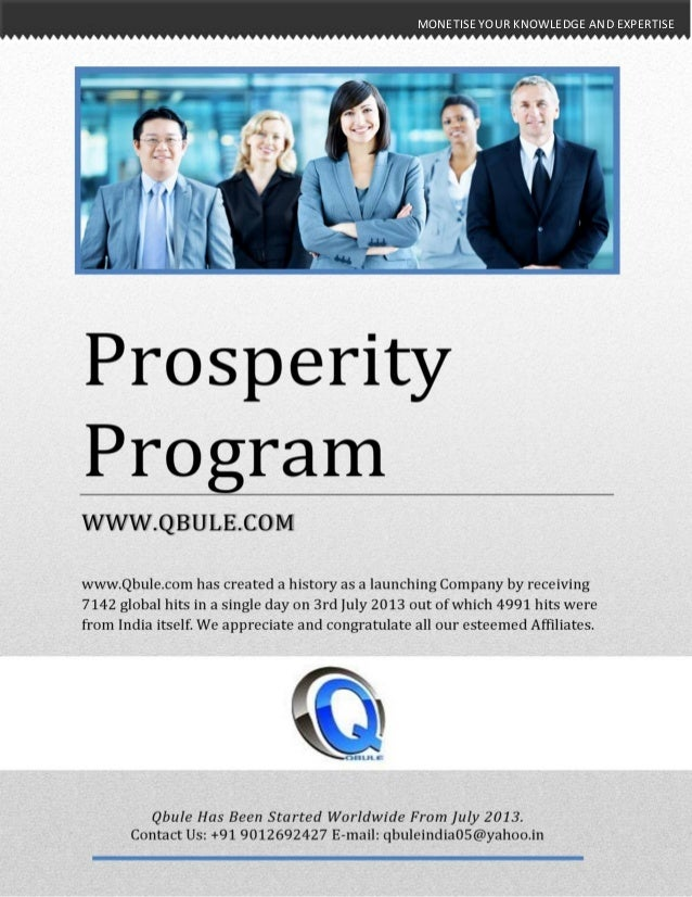 MONETISE YOUR KNOWLEDGE AND EXPERTISEMONETISE YOUR KNOWLEDGE AND EXPERTISE Prosperity Program