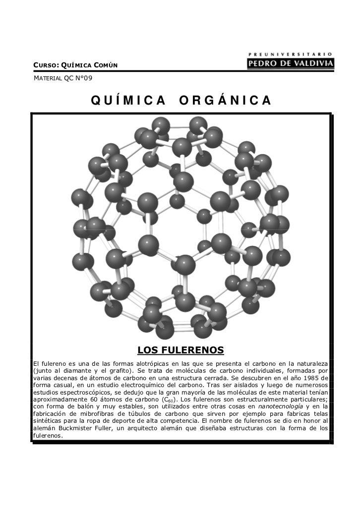 CURSO: QUÍMICA COMÚNMATERIAL QC N°09                  QUÍMICA                      ORGÁNICA                               ...