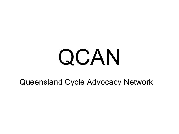QCAN Queensland Cycle Advocacy Network