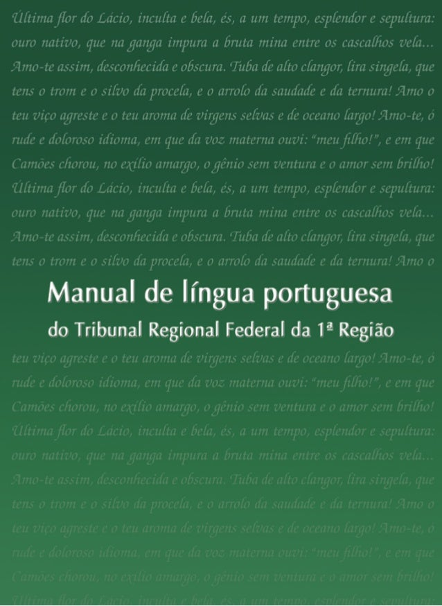 Manual de língua portuguesa do Tribunal Regional Federal da 1ª Região