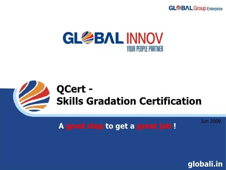 QCert - Skills Gradation Certification                                       Jun 2009 A good step to get a great job !    ...