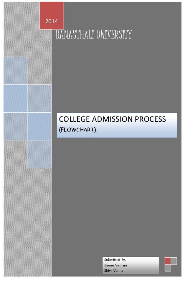 Qcl 14 v3 college admission processflowchart banasthali universi