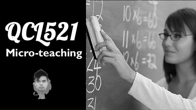 QCL521 Micro-teaching