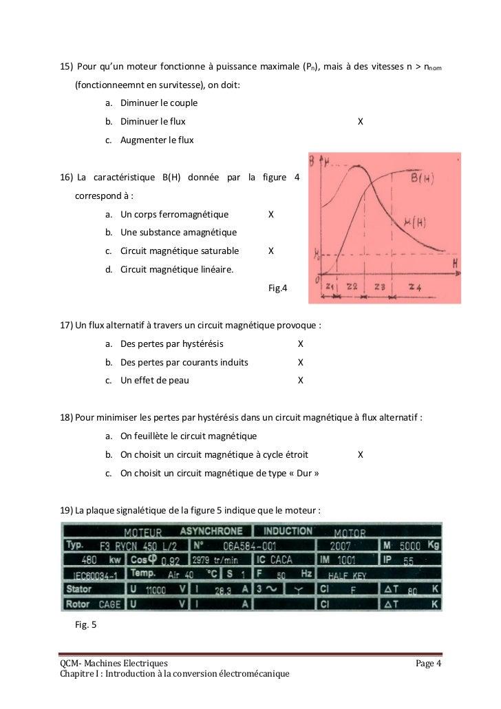 15) Pour qu'un moteur fonctionne à puissance maximale (Pn), mais à des vitesses n > nnom   (fonctionneemnt en survitesse),...