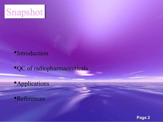 application of radiopharmaceuticals Many groups of research are now developing radiopharmaceuticals as  only a  matter of time for its frequent application to become a reality.