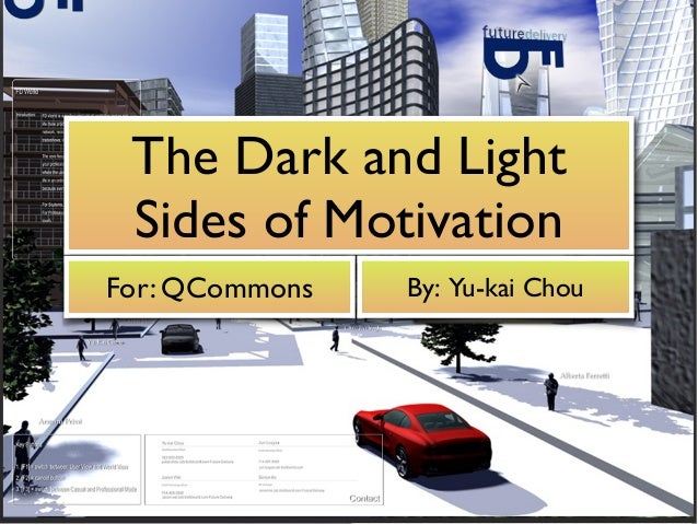 The Dark and Light Sides of Motivation For: QCommons By: Yu-kai Chou