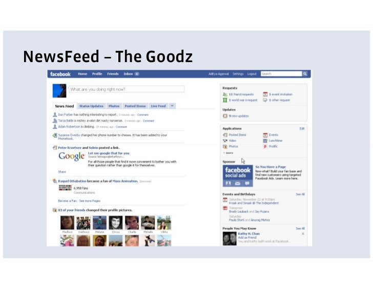 NewsFeed – The Work                                                                                        friends'       ...