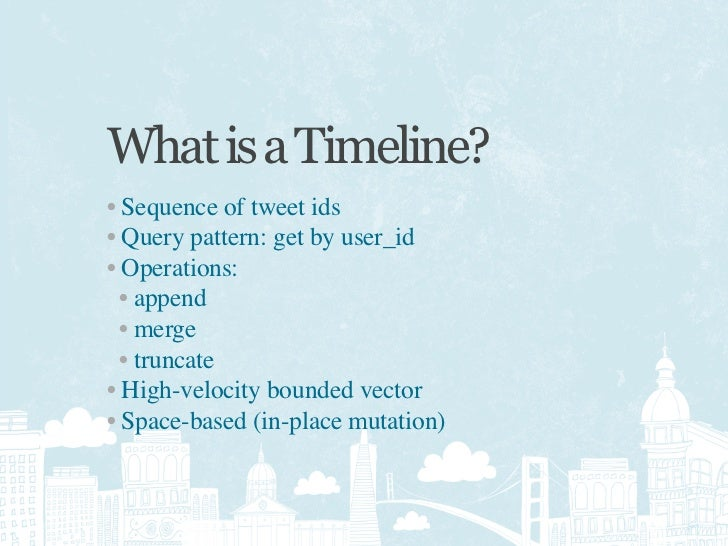 Original Implementation     SELECT * FROM tweets     WHERE user_id IN       (SELECT source_id        FROM followers       ...