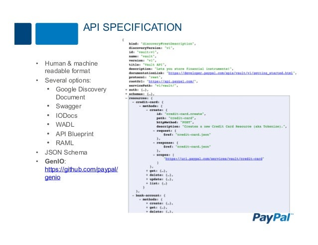 Redesigning paypal apis for scale and simplicity qcon san francisc api specification malvernweather Image collections