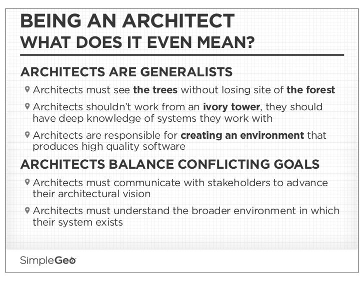 Jokes About Architects architecture at simplegeo: staying agile at scale