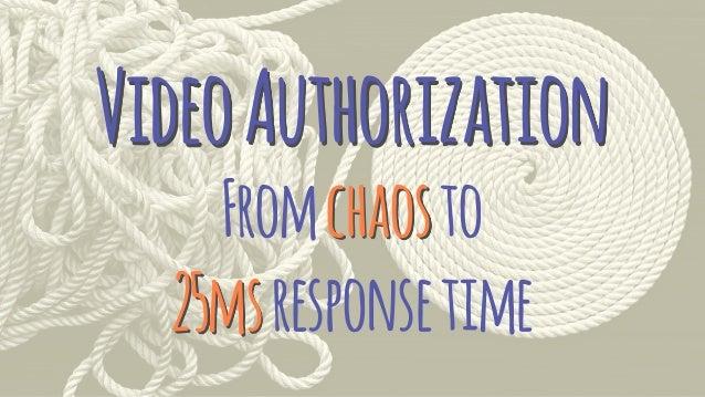 VideoAuthorization Fromchaosto 25msresponsetime