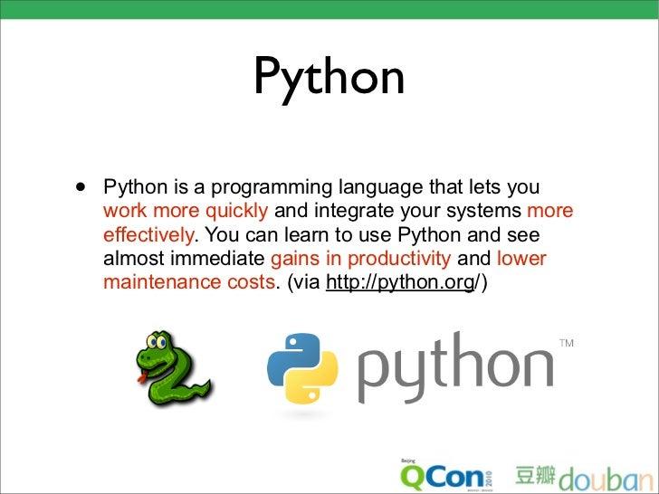 Python于Web 2.0网站的应用 - QCon Beijing 2010 Slide 3