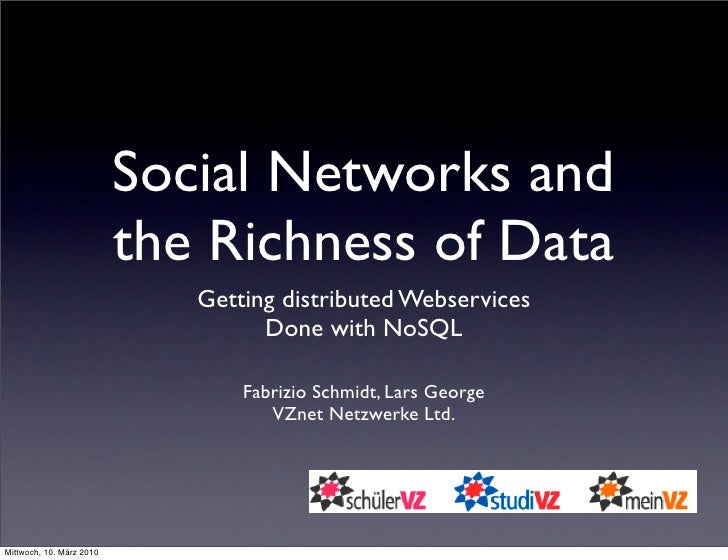 Social Networks and                           the Richness of Data                              Getting distributed Webser...