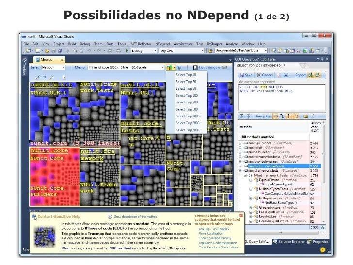 Possibilidades no NDepend(1 de 2)<br />