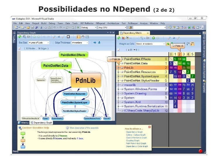 Possibilidades no NDepend(2 de 2)<br />