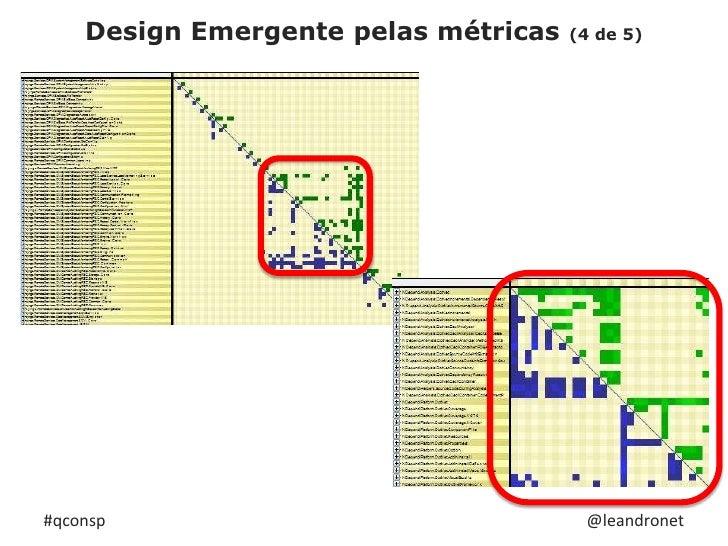 Design Emergente pelas métricas (4 de 5)<br />#qconsp<br />@leandronet<br />