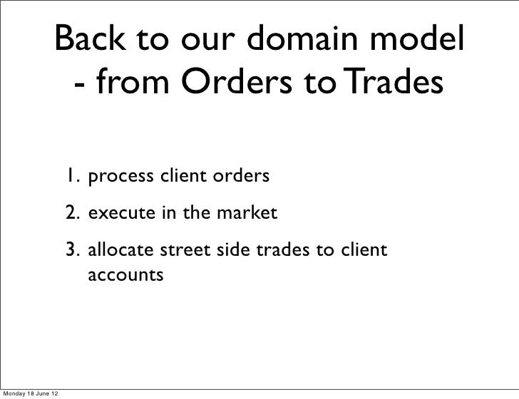 Back to our domain model