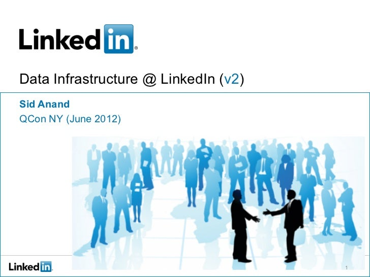 Data Infrastructure @ LinkedIn (v2)Sid AnandQCon NY (June 2012)                                      1