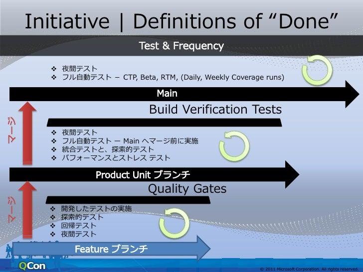 公開向け資料用補足スライド• 以下4スライドには、 – 米MSで自分たちのために開発したテストの効   率化のためのツール/方法について触れていま   す。 – これらはすでに Visual Studio 2010 の機能と   して実装されて...