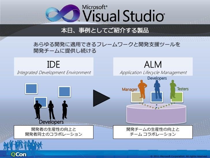 あらゆる開発に適用できるフレームワークと開発支援ツールを       開発チームに提供し続けるIntegrated Development Environment   Application Lifecycle Management      ...