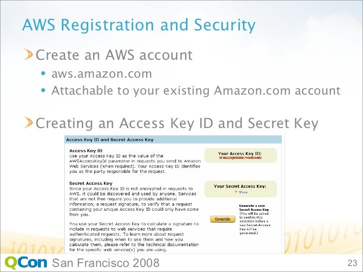 Amazon Web Services Tutorial San Francisco 2008; 23.