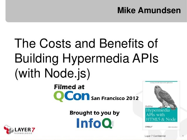 Layer 7 Confidential 1Mike AmundsenThe Costs and Benefits ofBuilding Hypermedia APIs(with Node.js)