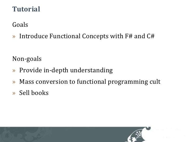 F# Tutorial @ QCon Slide 3