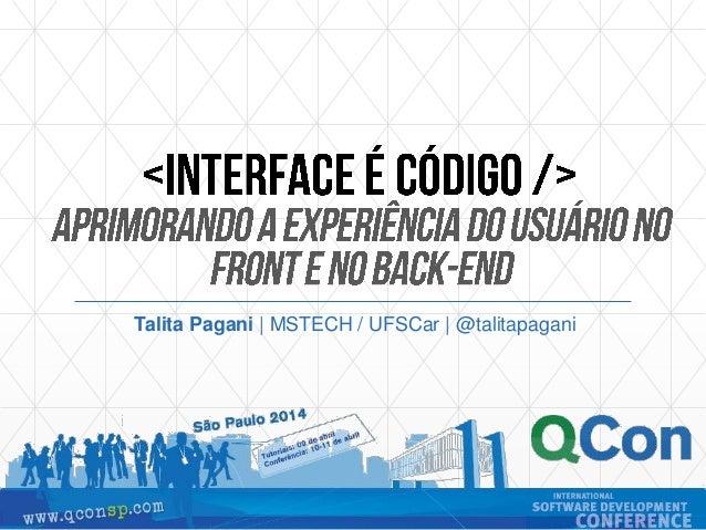 Talita Pagani | MSTECH / UFSCar | @talitapagani