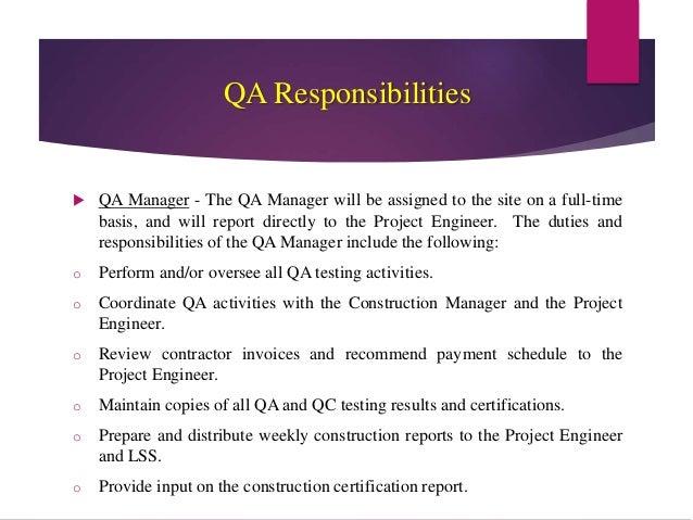 Quality Assurance Amp Quality Control
