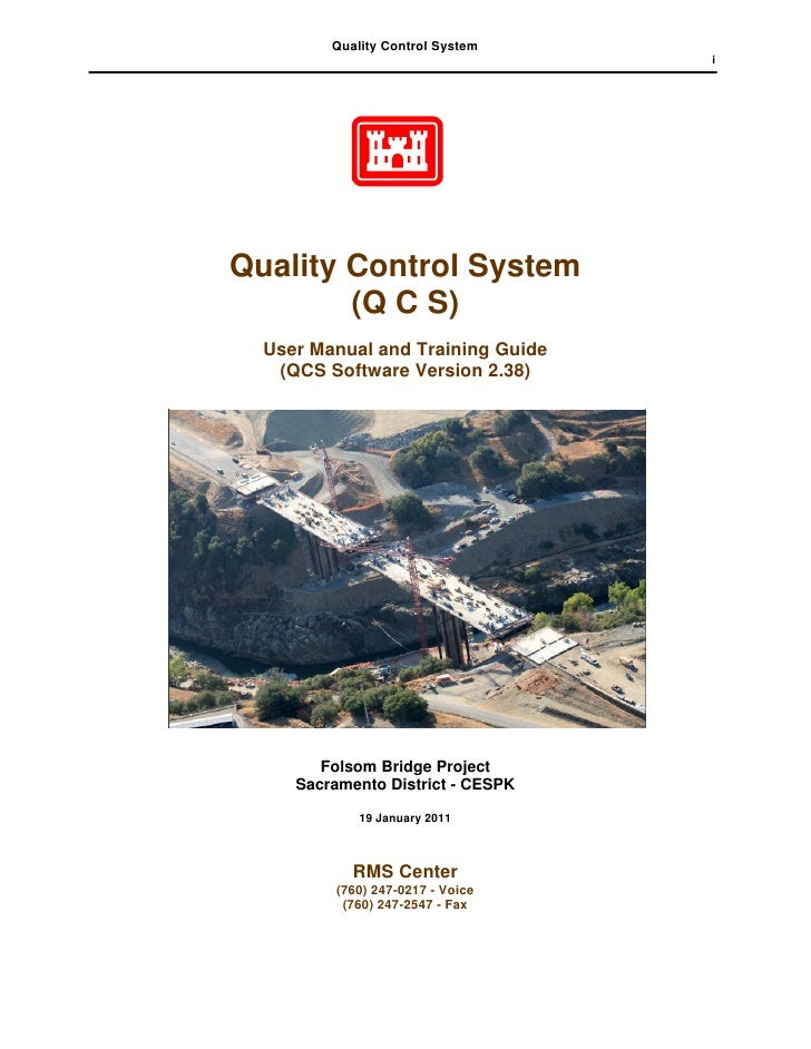 Quality Control System                                   iQuality Control System        (Q C S)  User Manual and Training ...