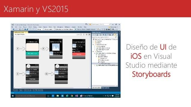 Xamarin y VS2015 Diseño de UI de iOS en Visual Studio mediante Storyboards