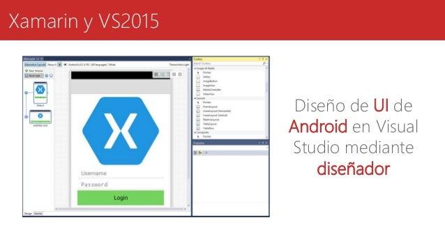 Xamarin y VS2015 Diseño de UI de Android en Visual Studio mediante diseñador