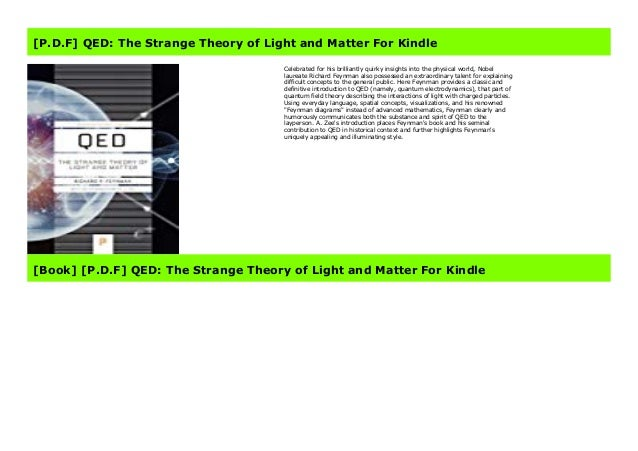 qed wiring diagram p d f  qed the strange theory of light and matter for kindle  p d f  qed the strange theory of light