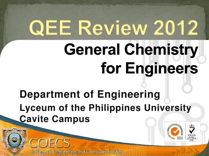 Department of EngineeringLyceum of the Philippines UniversityCavite Campus