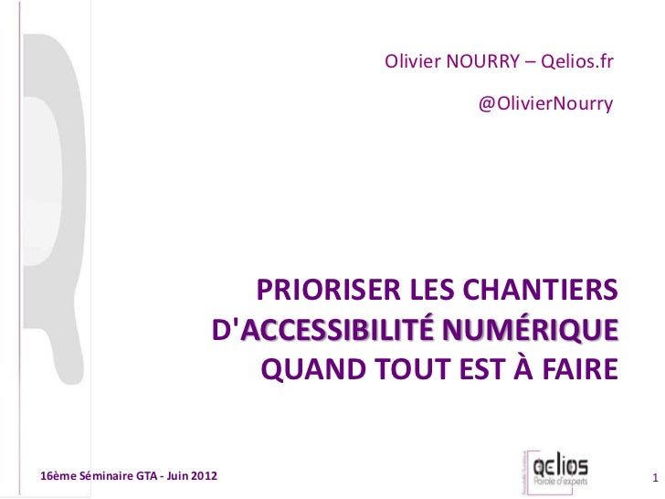 Olivier NOURRY – Qelios.fr                                                  @OlivierNourry                                ...