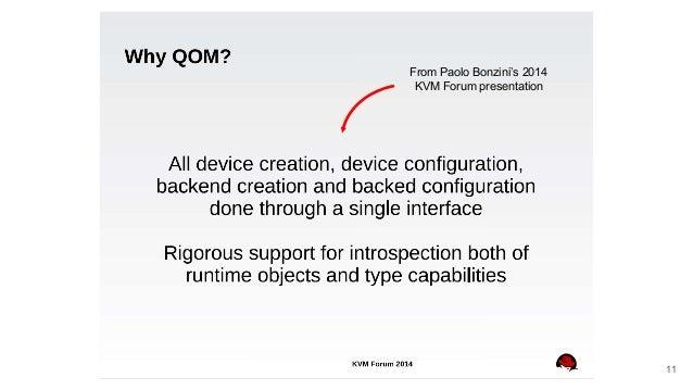 From Paolo Bonzini's 2014 KVM Forum presentation 11