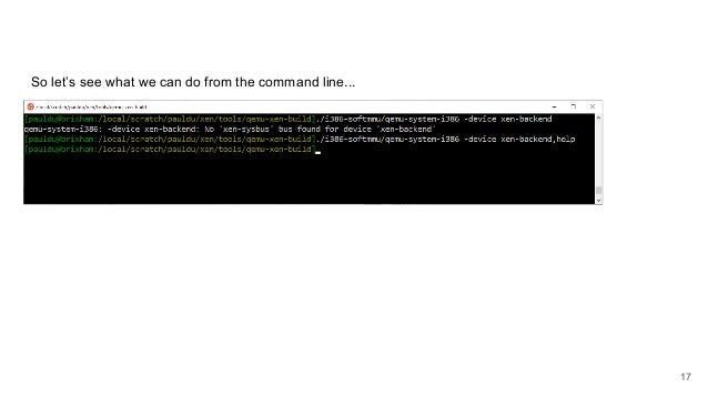 So let's see what we can do from the command line... 17