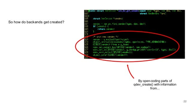 So how do backends get created? By open-coding parts of qdev_create() with information from... 22