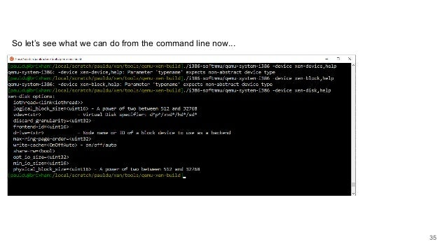 So let's see what we can do from the command line now... 35