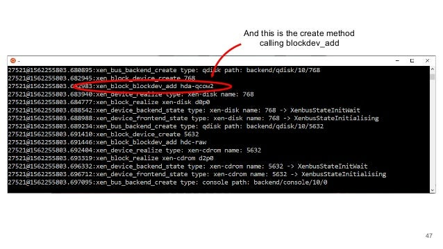 47 And this is the create method calling blockdev_add