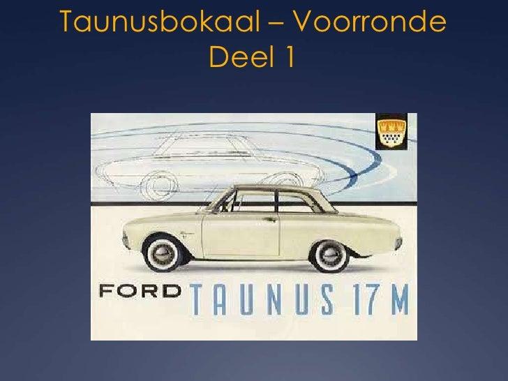Taunusbokaal – VoorrondeDeel 1<br />