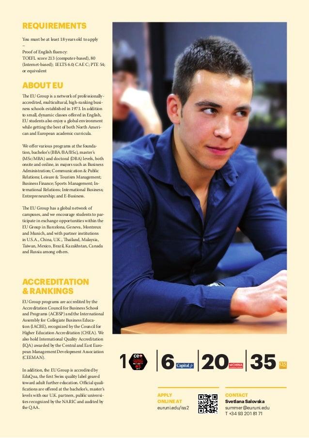 Eu Business School International Summer School 2017 In Barcelona S