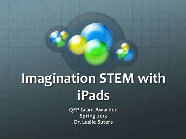 Imagination STEM with iPads QEP Grant Awarded Spring 2013 Dr. Leslie Suters