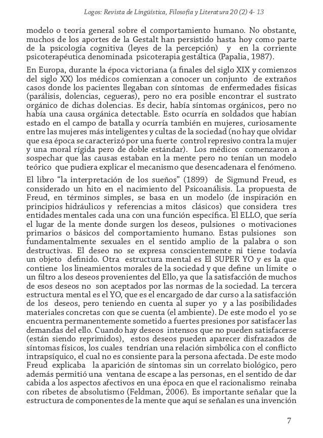 Logos: Revista de Lingüística, Filosofía y Literatura 20 (2) 4- 13 7 modelo o teoría general sobre el comportamiento human...
