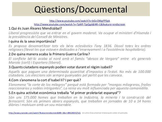 Qüestions/Documental                                    http://www.youtube.com/watch?v=bGvOWgFP0pk                        ...