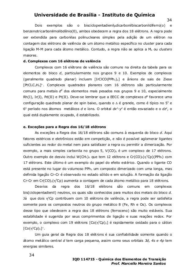 Universidade de Brasília - Instituto de Química                                                                           ...