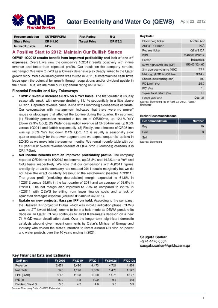 QEWS' 1Q2012 results benefit from improved profitability and