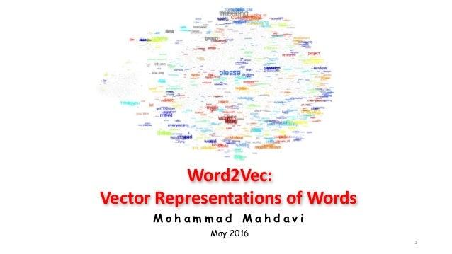 Word2Vec: Vector presentation of words - Mohammad Mahdavi